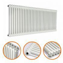 600 x 1508mm White Horizontal Traditional 2 Column Radiator
