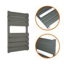650 x 400mm Anthracite Heated Towel Rail, Bathroom Radiator