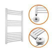 800 x 400mm Electric White Heated Towel Rail