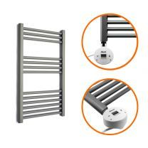 800 x 500mm Electric Anthracite Heated Towel Rail