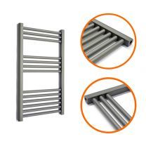 800 x 500mm Straight Anthracite Heated Towel Rail