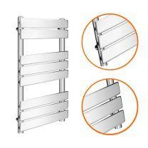 800 x 600mm Flat Panel Chrome Ladder Towel Radiator