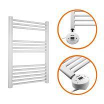 800 x 600mm Electric White Heated Towel Rail