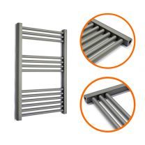 800 x 600mm Straight Anthracite Heated Towel Rail