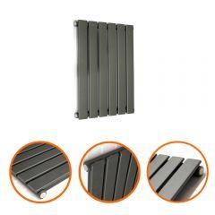 400 x 420mm Anthracite Single Flat Panel Horizontal Radiator
